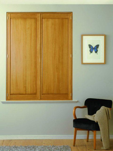 Solid Wooden Window Shutters